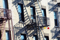 Fire steps in New York. Royalty Free Stock Images