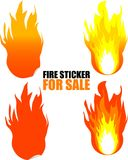 Fire sticker for  sale Royalty Free Stock Photo