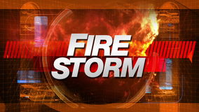 Fire Storm - Broadcast Title TV Graphic stock video footage
