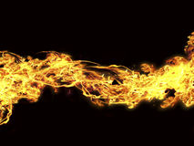 Fire. The fire storm isolated object Royalty Free Stock Photos