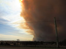 Big cloud of smoke rolling toward Sydney Stock Image