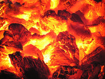 Fire in stove Royalty Free Stock Images