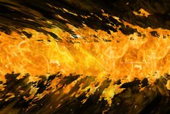 Fire stripe. Band fire on a black background, background for banner Stock Image