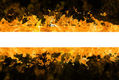 Fire stripe. Band fire on a black background, background for banner Royalty Free Stock Photo
