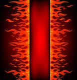 Fire stripe with free space. Vector illustration of Fire stripe with free space for text Stock Image