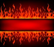 Fire stripe with free space for text Royalty Free Stock Image