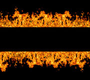 Fire stripe with free space for text Royalty Free Stock Photo