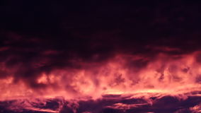 Fire Sunset Clouds Like Lava stock footage