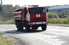 Fire suppression and mine victim assistance Royalty Free Stock Image