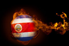 Fire surrounding costa rica ball Stock Image