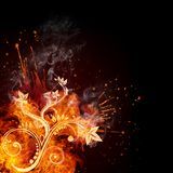Fire Swirl Royalty Free Stock Photos