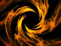 Fire swirl. Abstract design element, hq render stock illustration