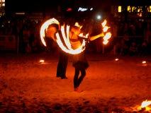 Fire swirls. Stock Photography