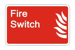 symbol Fire Switch Safety Symbol Sign on white background,vector illustration vector illustration