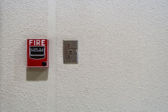 Fire switch on wall Royalty Free Stock Photography