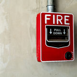 Fire switch on wall Royalty Free Stock Images