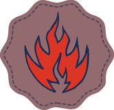 Fire symbol. The fire was the fire emblem graphic design icon Stock Photos