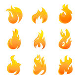 Fire symbol. Vector set of fire symbol Stock Image