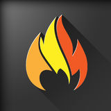 Fire symbol. Design element. Vector illustration Royalty Free Stock Photography
