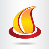 Fire symbol. Fire flame vector. Logo template Royalty Free Stock Photo