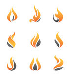 Fire symbol and icon Stock Images