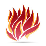 Fire Symbol Icon. Vector illustration of fire symbol icon design element Stock Photography