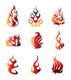Fire Symbol Icons Vector Royalty Free Stock Photography