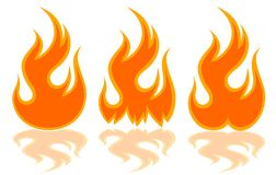 The Fire symbol. Royalty Free Stock Photos