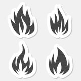 Fire symbols stickers set Stock Photography