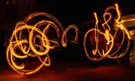 Fire symetrie Stock Photography