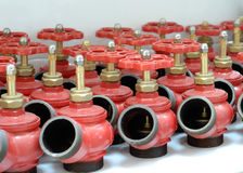 Fire system valves Stock Photo