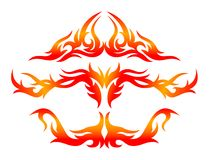 Fire tattoo decoration Stock Photography
