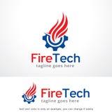 Fire Tech Logo Template Design Vector. This design suitable for logo or icon Royalty Free Stock Photos