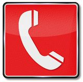 Fire telephone and emergency telephone. Fire telephone, emergency telephone and call for help Royalty Free Stock Photo