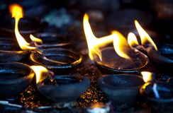 Fire in temple Stock Photography
