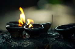 Fire in temple Royalty Free Stock Photo