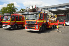 Fire tenders and ladder unit on standby Royalty Free Stock Photos