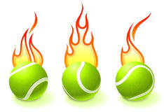 Fire Tennis Ball Collection Stock Images