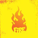 Fire theme. Graphic art design illustration Stock Photos