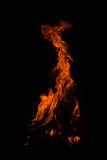 Fire. There is flame of fire at night stock image