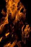 Fire. There is flame of fire at night royalty free stock photos