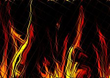 Fire tiles. Abstract illustration of hot flames Stock Images