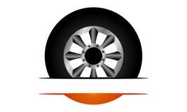Fire Tire Emblem Template. Fire Tire Emblem Logo Design Template Vector Stock Photography