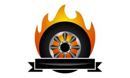 Fire Tire Emblem Template. Logo Design Template Vector Stock Images