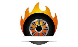 Fire Tire Emblem Template. Logo Design Template Vector Stock Photo