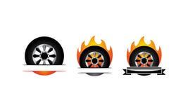 Fire Tire Emblem Template Set. Vector Stock Photos
