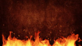 Fire title plate stock footage
