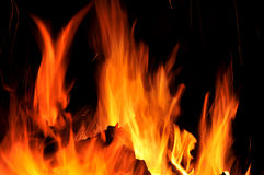 Fire tongues Royalty Free Stock Photos
