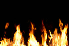 Fire tongues. Can be used for background Royalty Free Stock Photo