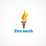Fire torch. Bright picture of a torch Stock Image